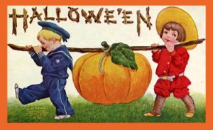 Vintage-2-kids-halloween-card